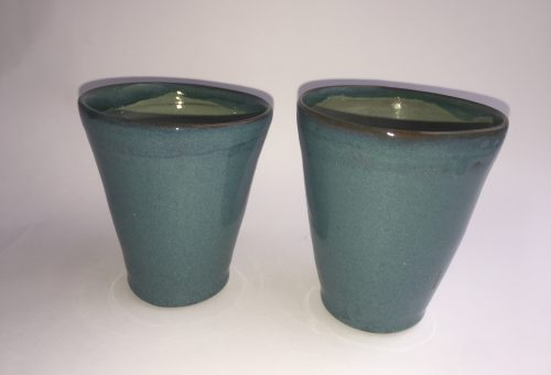 tasses café émail bleu